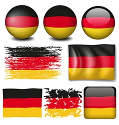 Germany flag on different items vector
