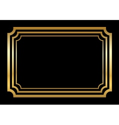 Gold frame beautiful simple style vector