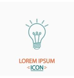Light lamp computer symbol vector