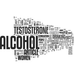 Affect of alcohol on women text word cloud concept vector