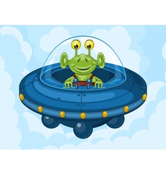 Alien and UFO vector image vector image