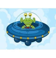 Alien and ufo vector