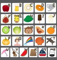 Alphabet with Funny Cartoon Collection vector image vector image