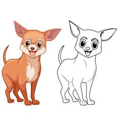 Animal outline for chiwawa dog vector