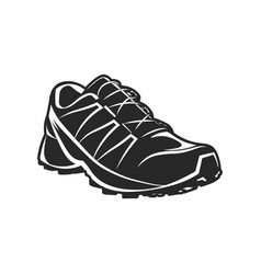 athletic sport shoe black and white vector image