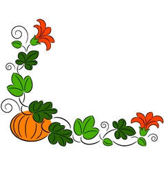 Autumn pumpkin frame vector