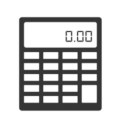 Calculator maths numbers icon vector