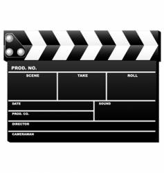 closed clapboard vector image