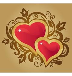 decorative hearts vector image vector image