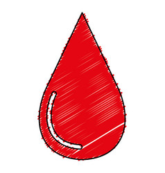 Drop blood donation icon vector