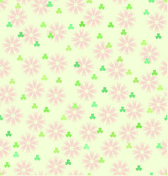 Flower shamrock pattern seamless spring vector