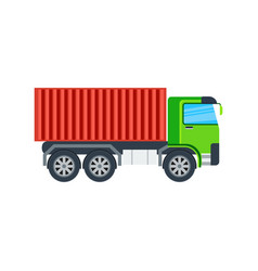 Freight truck isolated icon vector