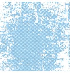 grunge blue halftone background vector image vector image