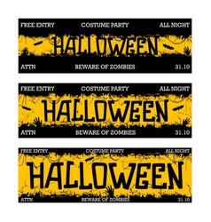 halloween night party design vector image