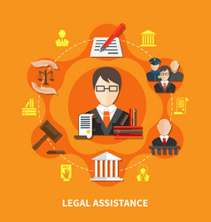 law orange composition vector image