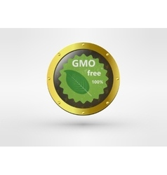 Made with Non - GMO ingredients grunge rubber vector image
