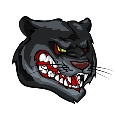 Panther mascot team label design vector