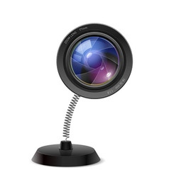Photo camers lens souvenir vector