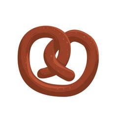 pretzel food snack vector image