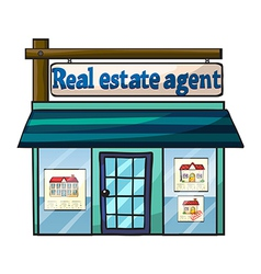 Real estate agent vector image vector image