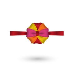red yellow pink and orange elegant bow vector image vector image