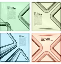retro set vector image vector image