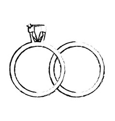 rings jewelry wedding symbol sketch vector image