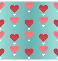 Seamless pattern with many sweet hearts vector image vector image