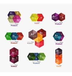 Set of infographic templates with text and options vector image