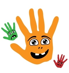 Smiling palm hands vector