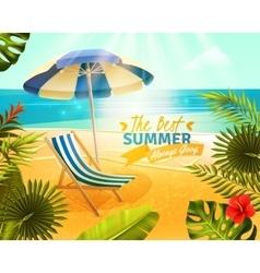 Tropical Resort Cartoon vector image vector image