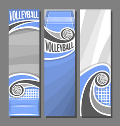 vertical banners for volleyball vector image vector image
