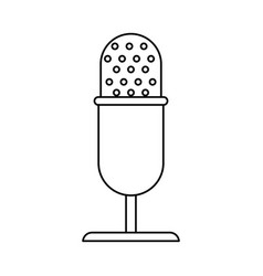 vintage microphone studio style thin line vector image