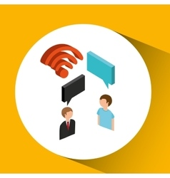 Wifi concept speak message icon vector