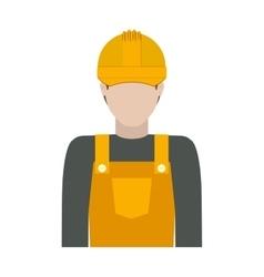 Worker with uniform and helmet vector