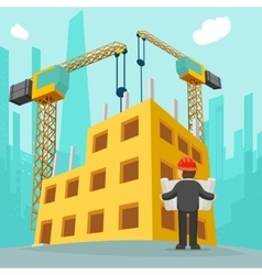 Building construction cartoon vector