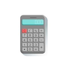 Electronic calculator office worker desk element vector
