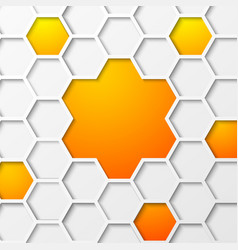 Abstract hexagon background vector