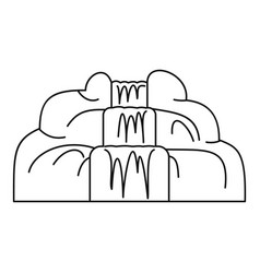 waterfall icon outline style vector image