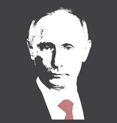 Russian president vladimir putin flat vector