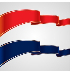 Red blue ribbons vector
