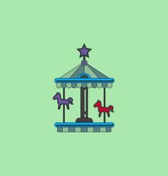 Stock cartoon childrens fun colorful carousel vector