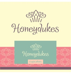 Logo for confectionery making cupcakes vector