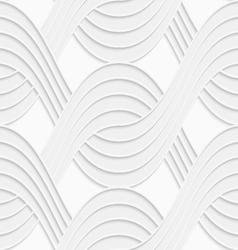 3d white interlocking waves on white vector