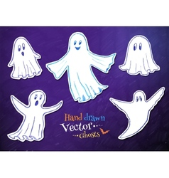 Cute ghosts vector