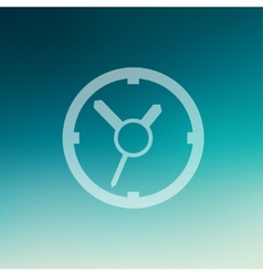 Clock in flat style icon vector