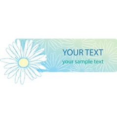 Beautiful camomile floral banner vector