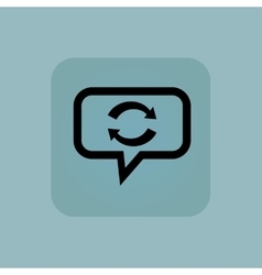 Pale blue exchange message icon vector
