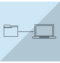 Data center and file design vector