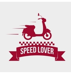 Motorcycle design transportation icon isolated vector